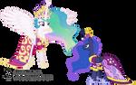 Luna Confronts Celestia (Coronation Dresses Ver.)