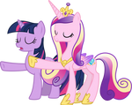 Princess Cadance and Twilight Sparkle Relaxing