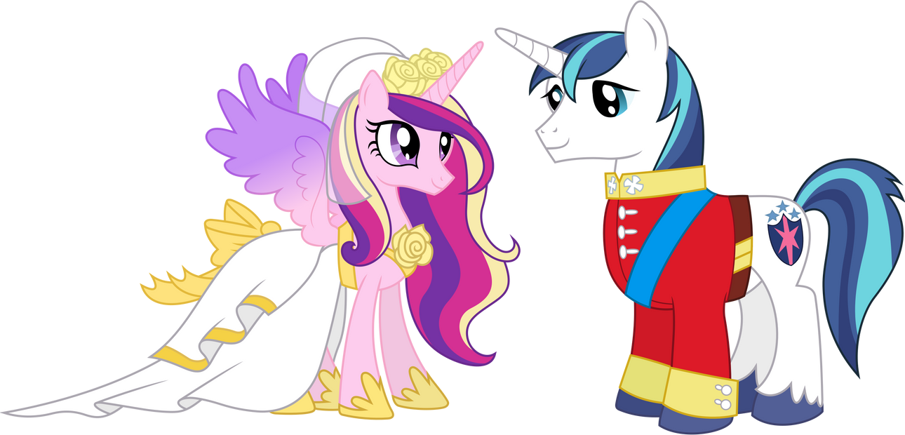 My little pony friendship is magic shining armor and cadence