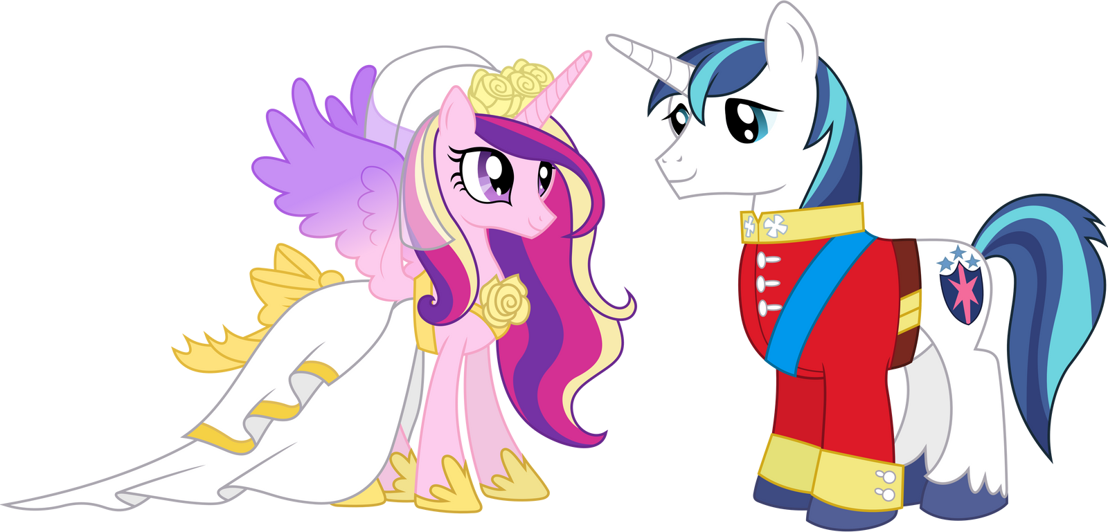 Princess Cadance and Shining Armour (2) by 90Sigma on ...