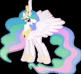 Happy Princess Celestia by 90Sigma