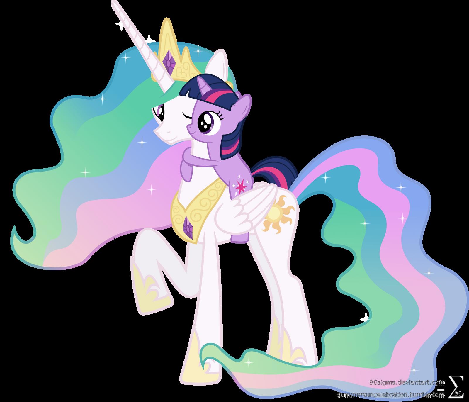 Princess Celestia and Twilight Sparkle Hugging  3  by 90SigmaPrincess Celestia And Twilight Sparkle Coloring Pages