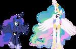 Happy Princess Celestia and Princess Luna
