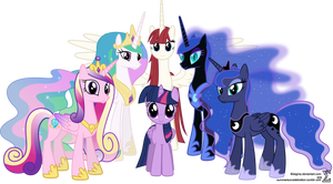 Alicorn Family Photo (Mare Version)