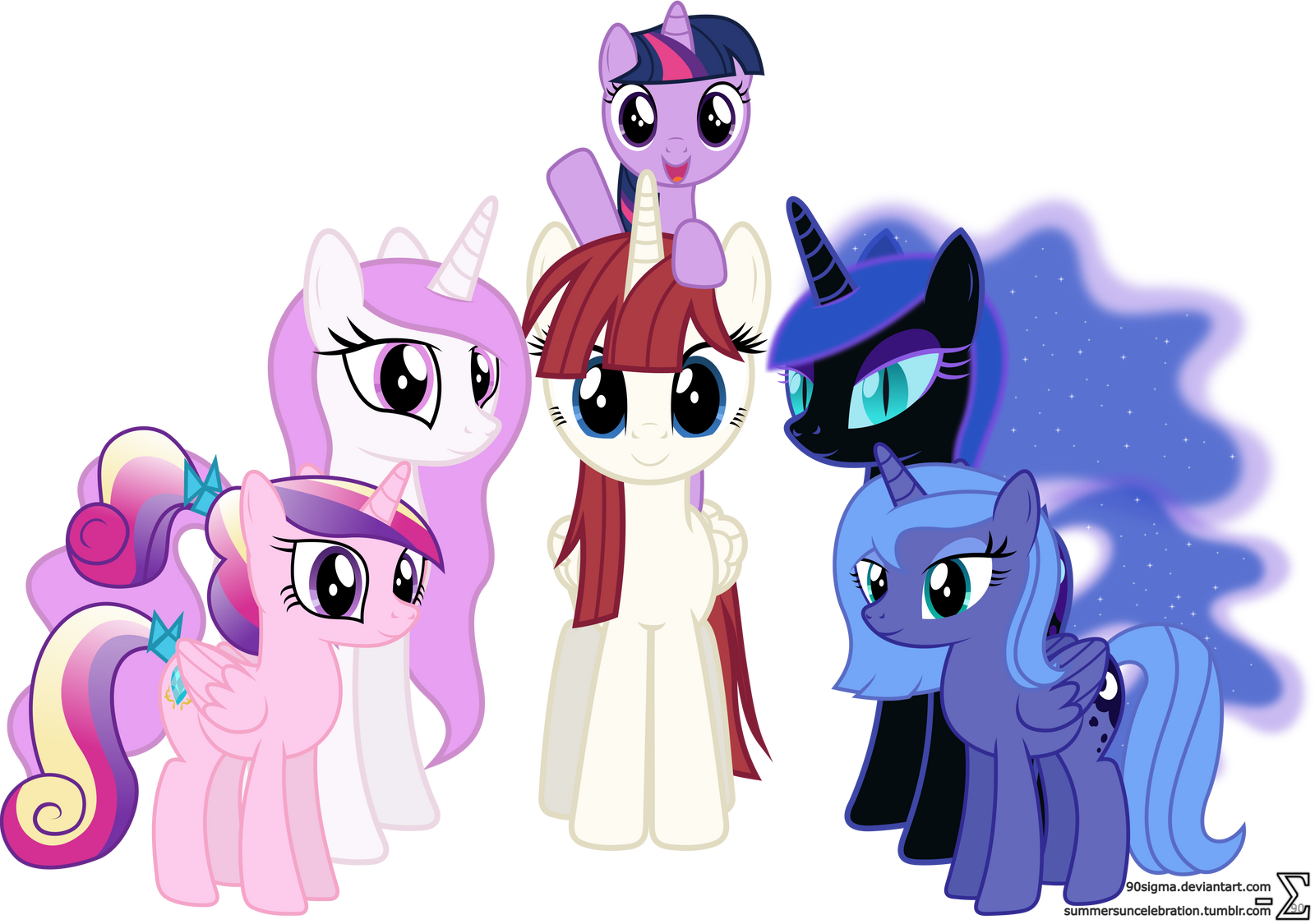 my little pony friendship is magic princess celestia filly