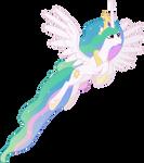 Princess Celestia Flying (2)