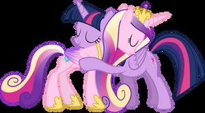 Princess Cadance and Twilight Sparkle Hugging (3)