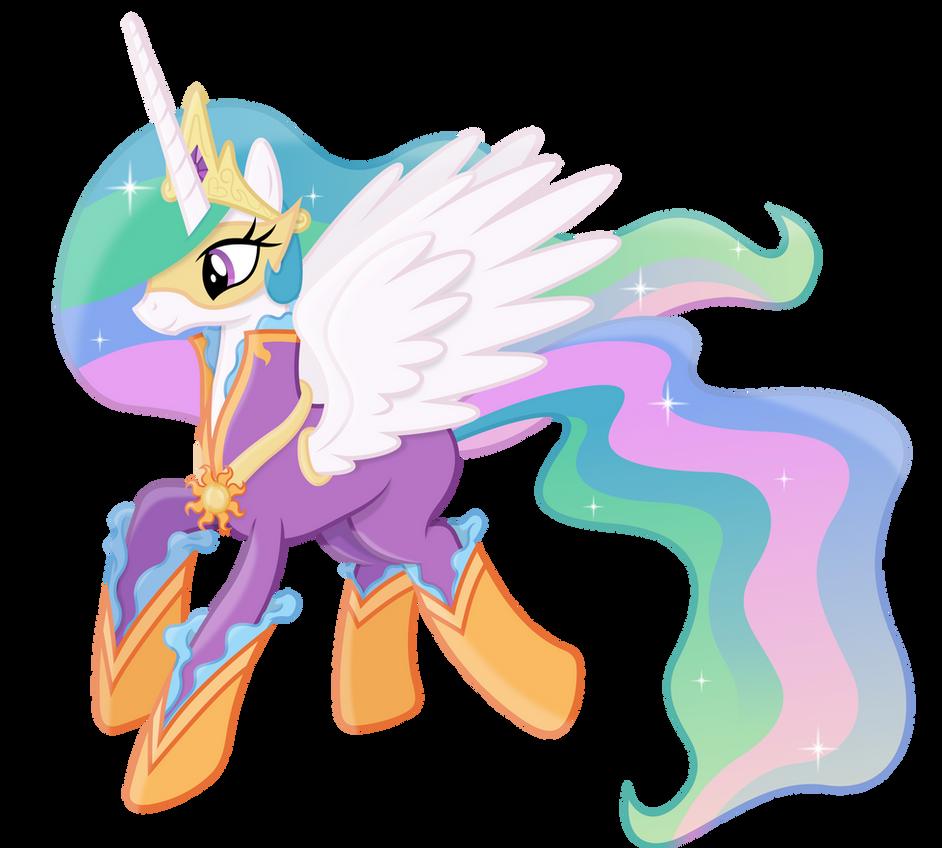 Princess Celestia as a Power Pony