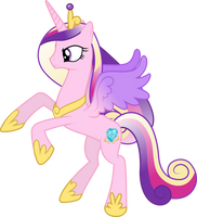 Princess Cadance Rearing Up by 90Sigma
