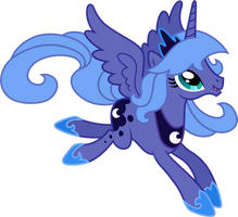 Princess Luna Flying (4) by 90Sigma