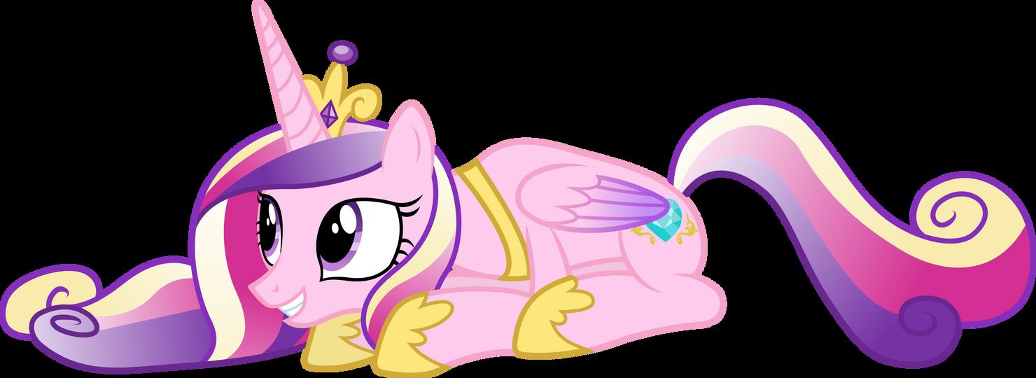 Prone Princess Cadance by 90Sigma