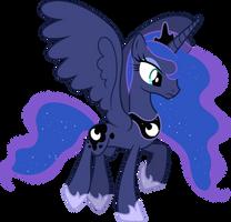 Princess Luna Flying (2) by 90Sigma