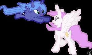 Princess Luna Surprises Princess Celestia