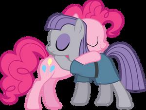 Pinkie and Maud Hugging