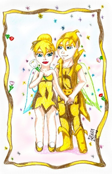 Terence Tinkerbell Drawings Tinkerbell and terence in goldTinkerbell And Terence