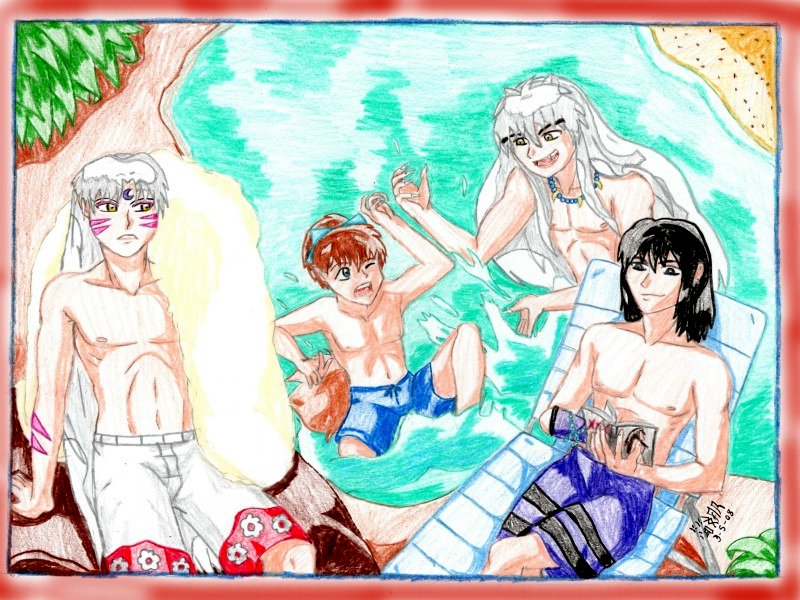 Contest Pic-Inuyasha Summer by IsisConstantine