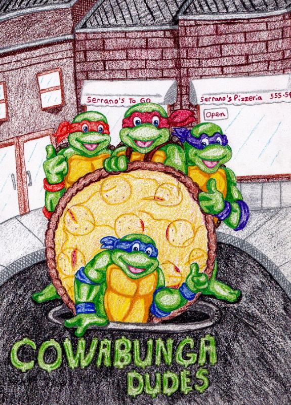 TMNT-Pizza in the Hole pt.II by IsisConstantine