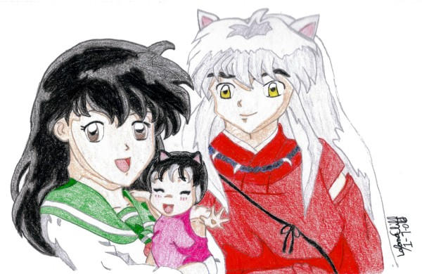 Inuyasha and Kagome Family by IsisConstantine on DeviantArt Inuyashas Family With Kagome