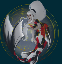 Koi mermaid by Naidyll