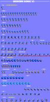 Modern Sonic v2.0 Sprite Sheet