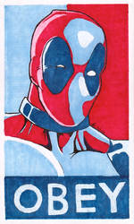 OBEY - Deadpool by 12me3
