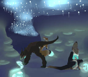 Kukuri :: The Glow Caverns by CallofBabythulhu