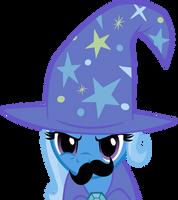 Mustache Attack Trixie by Triox404