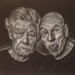 Portrait: Ian Mckellen and Patrick Stewart!