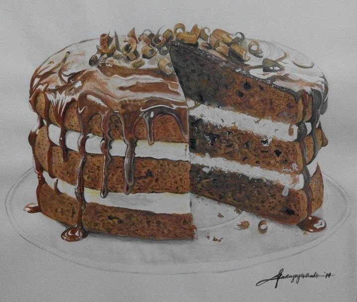Artist Who Draws Cake : Chocolate Cake Drawing by kajoycyrus on DeviantArt