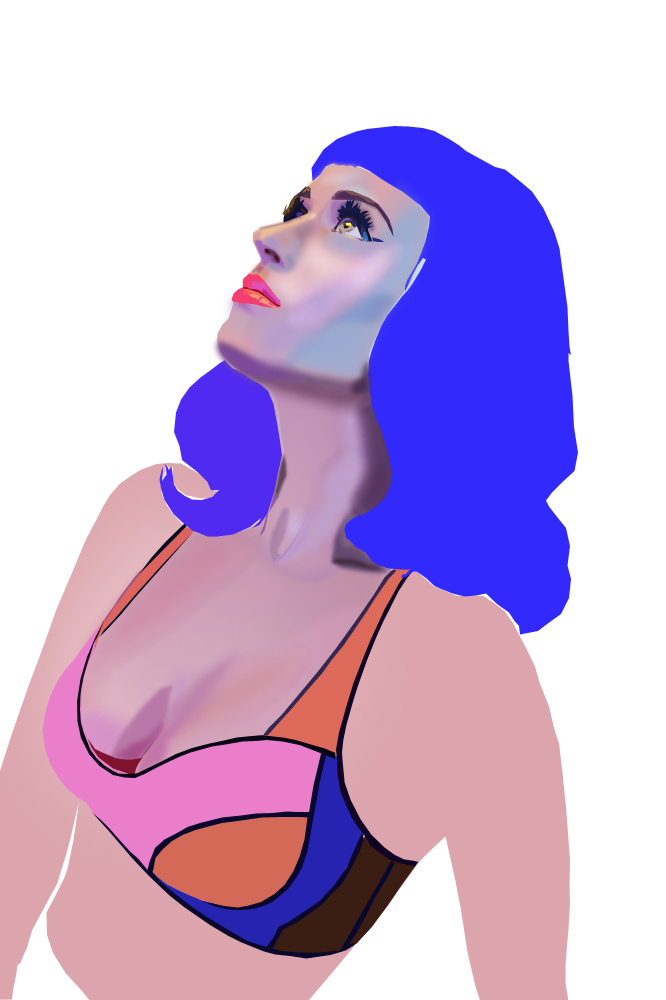 Katy Perry vector - Sample by Marisflowers on DeviantArt