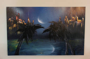 Moon Gazing Paradise by Aki--Sora