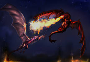 Ark wyverns by Kraven-foxy