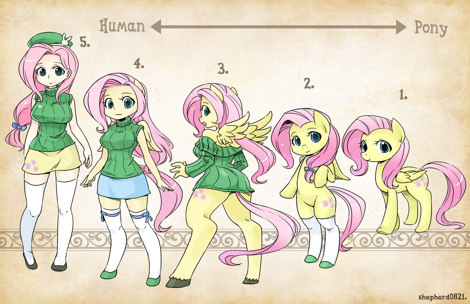 Types-Fluttershy by shepherd0821