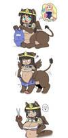Rani the Sphinx want to wear swimsuit by shepherd0821