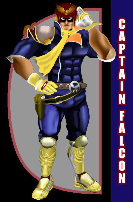 Captain Falcon Salute (Original) by SenjuWarrior on DeviantArt