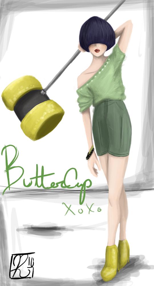 Fierce Buttercup by Phran-kill-in