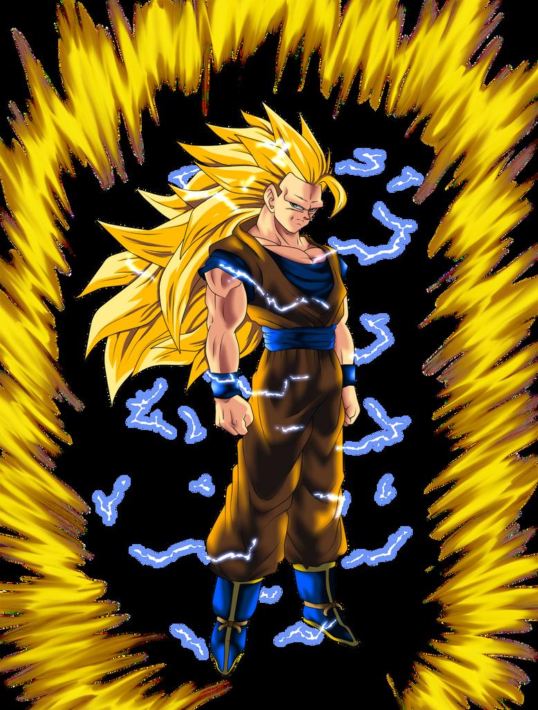 just Super Saiyan 3 Goku by ShinTheDragonFighter on DeviantArt