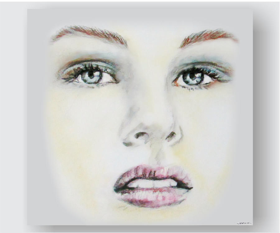 Female face - Drawing by robertoaragon on DeviantArt