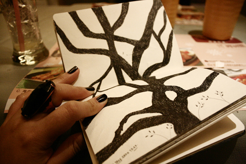 Black Book Art: Old Oak Tree by poeticartist