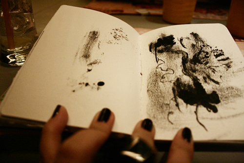Black Book Art: Black Abstract by poeticartist