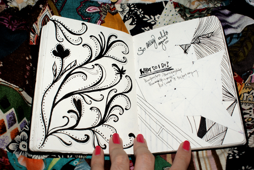 Black Book Art: Boho? by poeticartist