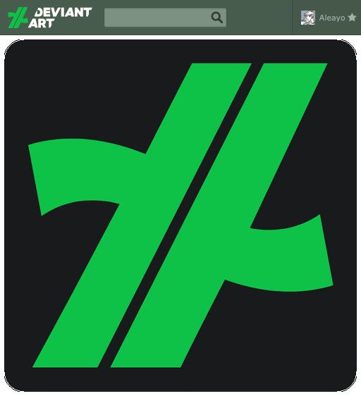 DeviantART logo 2.14 more curvy by Aleayo