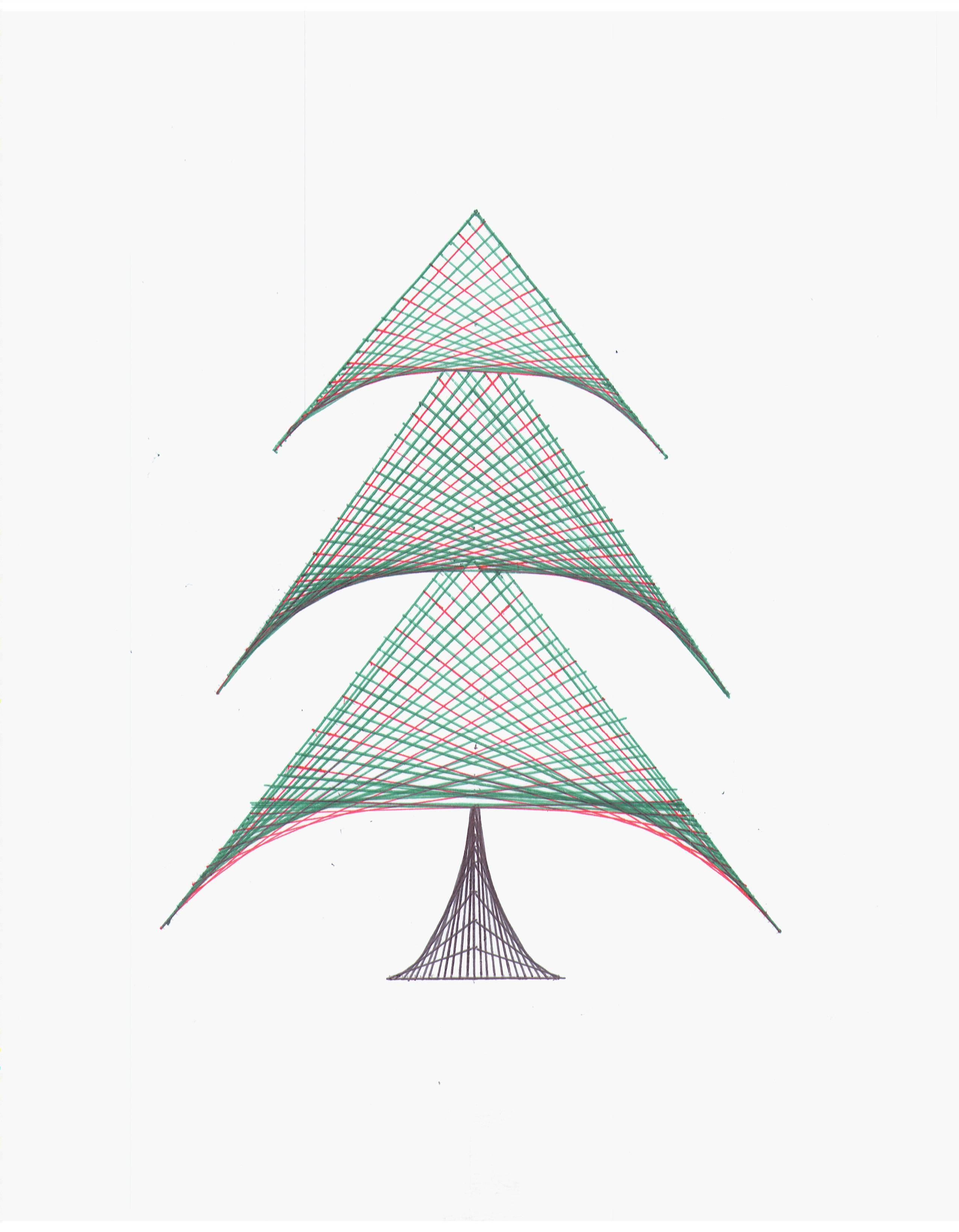 Straight Line String Art : Christmas tree by flandrepink on deviantart