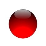 Red glowing orb
