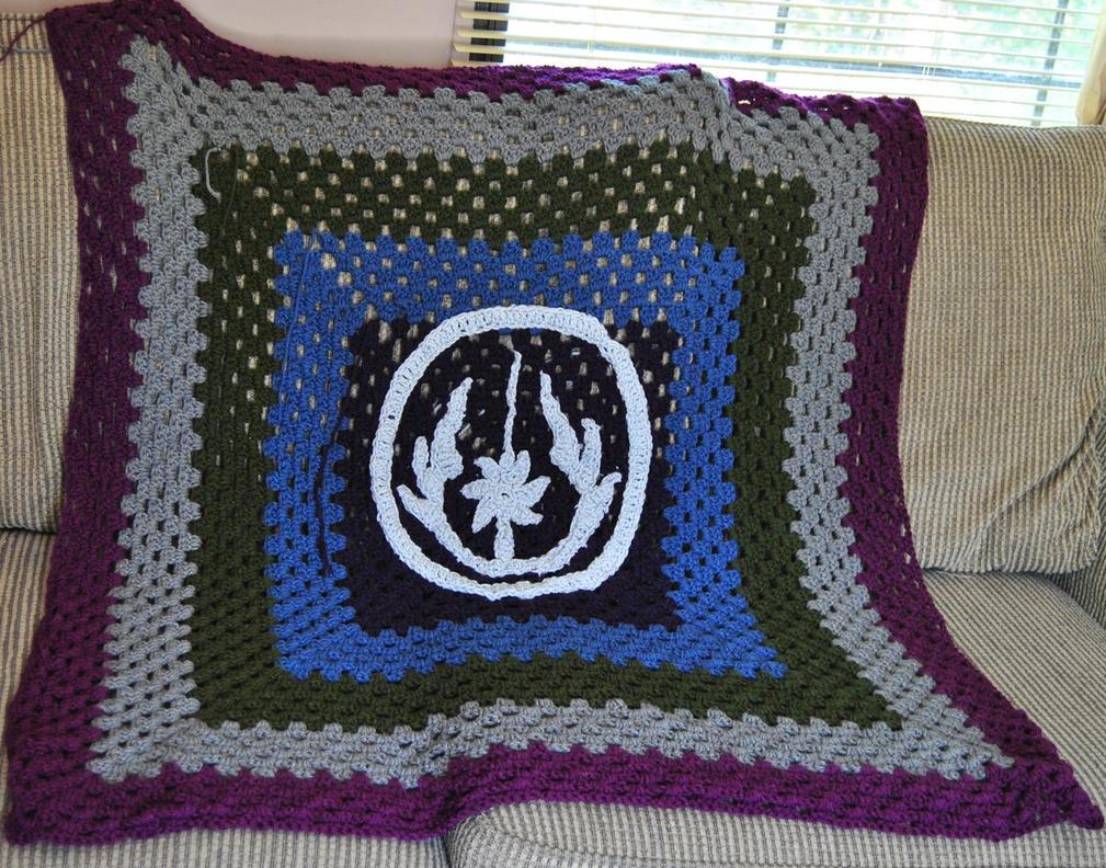 Crocheted Jedi Blanket by Kitt98