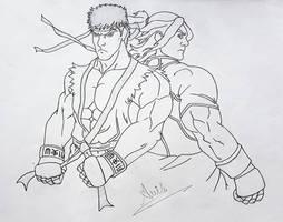 Ryu X Ken by i-am-rik