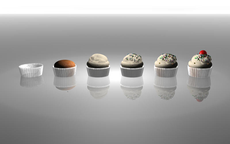 Evolution of a Cupcake by athaliah