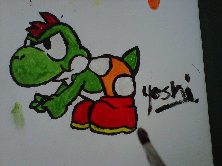 Yoshi I drew in Art by Koipeach
