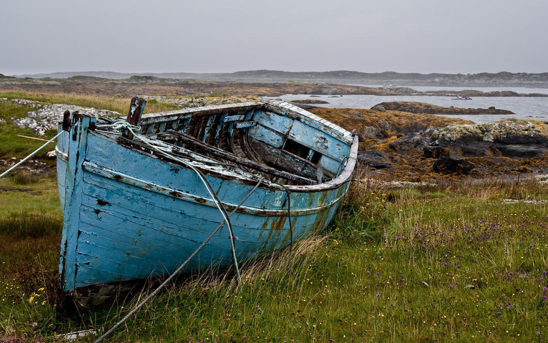 Blue boat by Obikiller