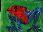 Strawberry dart frog humanoid by ivanprime93
